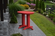 A & L Furniture - 4' Oval Bar Table - 5110 - Bright Red Poly
