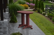 A & L Furniture - 4' Oval Bar Table - 5110 - Cherry Poly