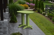 A & L Furniture - 4' Oval Bar Table - 5110 - Tropical Lime Green Poly