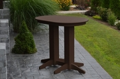 A & L Furniture - 4' Oval Bar Table - 5110 - Tudor Brown Poly
