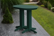 A & L Furniture - 4' Oval Bar Table - 5110 - Turf Green Poly