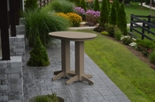 A & L Furniture - 4' Oval Bar Table - 5110 - Weathered Wood Poly