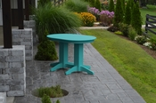 A & L Furniture - 4' Oval Dining Table - 4170 - Aruba Blue Poly