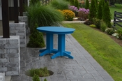 A & L Furniture - 4' Oval Dining Table - 4170 - Blue Poly