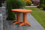 A & L Furniture - 4' Oval Dining Table - 4170 - Bright Orange Poly