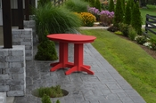 A & L Furniture - 4' Oval Dining Table - 4170 - Bright Red Poly