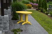 A & L Furniture - 4' Oval Dining Table - 4170 - Lemon Yellow Poly