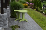 A & L Furniture - 4' Oval Dining Table - 4170 - Tropical Lime Green Poly