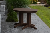 A & L Furniture - 4' Oval Dining Table - 4170 - Tudor Brown Poly