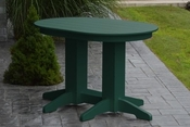 A & L Furniture - 4' Oval Dining Table - 4170 - Turf Green Poly