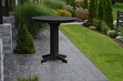 """A & L Furniture - 44"""" Round Bar Table - 4181 - Black Poly"""