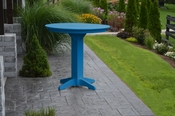 """A & L Furniture - 44"""" Round Bar Table - 4181 - Blue Poly"""