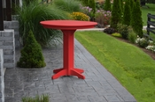 """A & L Furniture - 44"""" Round Bar Table - 4181 - Bright Red Poly"""