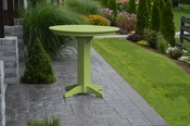 """A & L Furniture - 44"""" Round Bar Table - 4181 - Tropical Lime Green Poly"""