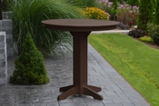 """A & L Furniture - 44"""" Round Bar Table - 4181 - Tudor Brown Poly"""