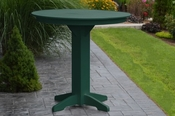 """A & L Furniture - 44"""" Round Bar Table - 4181 - Turf Green Poly"""