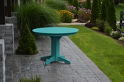 """A & L Furniture - 44"""" Round Dining Table - 4141 - Aruba Blue Poly"""