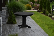"""A & L Furniture - 44"""" Round Dining Table - 4141 - Black Poly"""