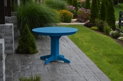 """A & L Furniture - 44"""" Round Dining Table - 4141 - Blue Poly"""