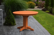 """A & L Furniture - 44"""" Round Dining Table - 4141 - Bright Orange Poly"""