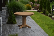 """A & L Furniture - 44"""" Round Dining Table - 4141 - Cedar Poly"""