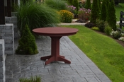 """A & L Furniture - 44"""" Round Dining Table - 4141 - Cherry Poly"""