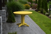 """A & L Furniture - 44"""" Round Dining Table - 4141 - Lemon Yellow Poly"""
