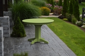 """A & L Furniture - 44"""" Round Dining Table - 4141 - Tropical Lime Green Poly"""