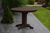 """A & L Furniture - 44"""" Round Dining Table - 4141 - Tudor Brown Poly"""