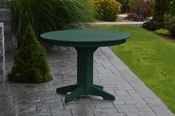 """A & L Furniture - 44"""" Round Dining Table - 4141 - Turf Green Poly"""
