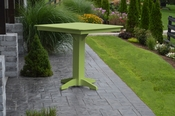 """A & L Furniture - 44"""" Square Bar Table - 4191 - Tropical Lime Green Poly"""