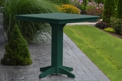 """A & L Furniture - 44"""" Square Bar Table - 4191 - Turf Green Poly"""