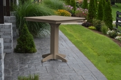 """A & L Furniture - 44"""" Square Bar Table - 4191 - Weathered Wood Poly"""