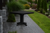 """A & L Furniture - 44"""" Square Dining Table - 4151 - Black Poly"""