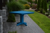 """A & L Furniture - 44"""" Square Dining Table - 4151 - Blue Poly"""