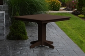 """A & L Furniture - 44"""" Square Dining Table - 4151 - Tudor Brown Poly"""