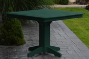 """A & L Furniture - 44"""" Square Dining Table - 4151 - Turf Green Poly"""