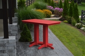 A & L Furniture - 5' Bar Table - 5101 - Bright Red Poly