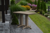 A & L Furniture - 5' Bar Table - 5101 - Weathered Wood Poly