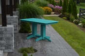 A & L Furniture - 5' Dining Table - 4161 - Aruba Blue Poly