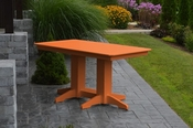 A & L Furniture - 5' Dining Table - 4161 - Bright Orange Poly