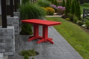 A & L Furniture - 5' Dining Table - 4161 - Bright Red Poly