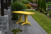 A & L Furniture - 5' Dining Table - 4161 - Lemon Yellow Poly