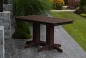 A & L Furniture - 5' Dining Table - 4161 - Tudor Brown Poly
