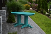 A & L Furniture - 5' Oval Dining Table - 4171 - Aruba Blue Poly