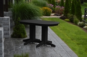 A & L Furniture - 5' Oval Dining Table - 4171 - Black Poly