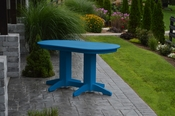 A & L Furniture - 5' Oval Dining Table - 4171 - Blue Poly