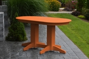A & L Furniture - 5' Oval Dining Table - 4171 - Bright Orange Poly