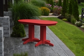 A & L Furniture - 5' Oval Dining Table - 4171 - Bright Red Poly
