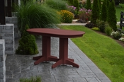 A & L Furniture - 5' Oval Dining Table - 4171 - Cherry Poly